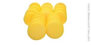 DI Accessories Yellow Foam Applicator Pad (Bulk 25x)